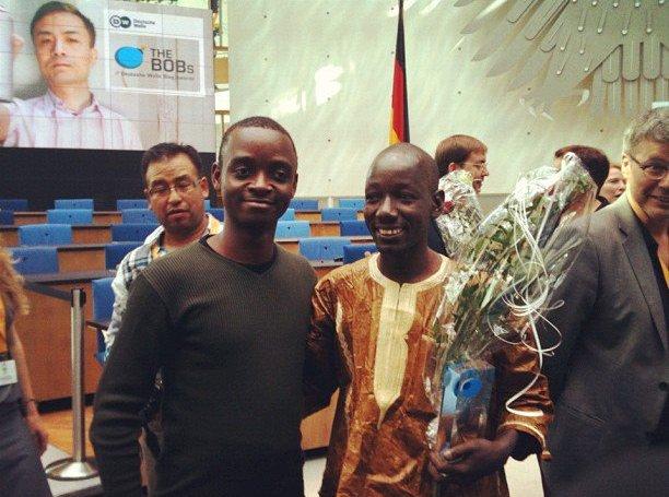 Florian Ngimbis et Boukary Konaté aux BoB's. Bonn, Allemagne, juin 2012