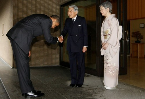 courbettes obama empreur japon