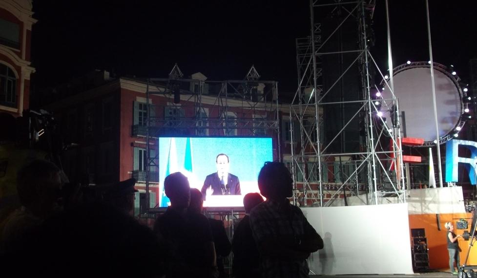 François Hollande pendant son discours